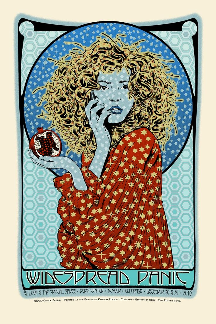 "Widespread Panic ""Winter"" • New Years Eve 2010 Poster by Chuck Sperry"