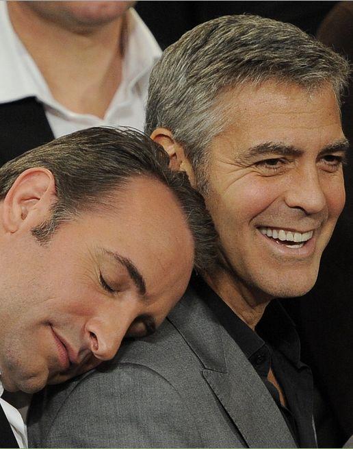 Jean Dujardin & George Clooney .