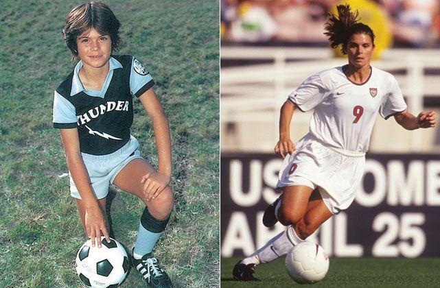 mia hamm childhood photo on thunder soccer team us soccer pinterest mia hamm