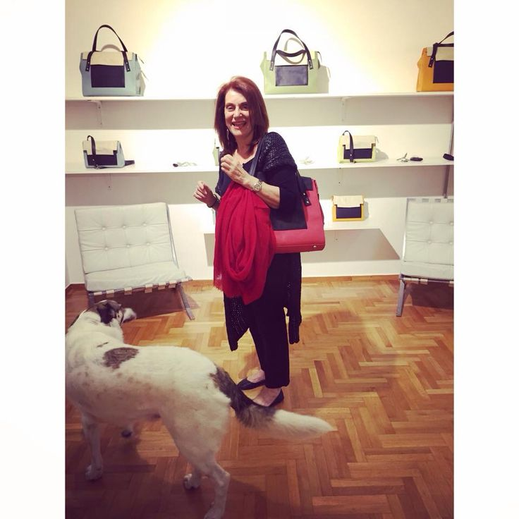 Queen Bessy -Pavlina's mom- effortlessly stylish, last night carrying her custom made May Tote bag.