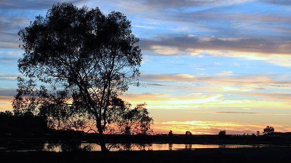 November sunset at Batiquitos Lagoon, Carlsbad, California.