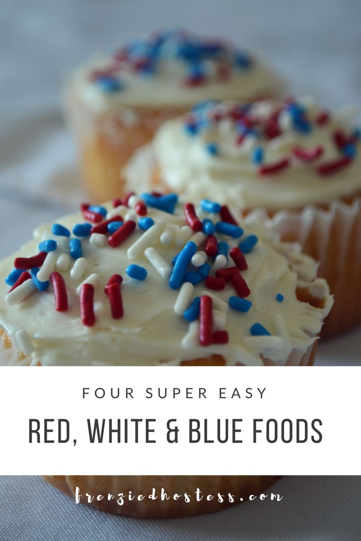 All the easy red, white and blue party foods online are easy, but still time-consuming. Cut out all the flags and sprinkles and just serve colorful treats.