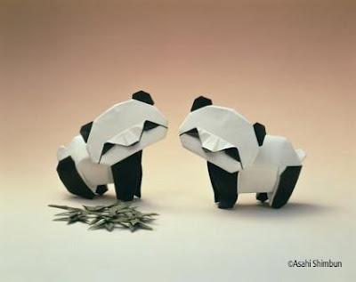 Beautiful Amazing Akira Yoshizawa's Origami Art of paper photo picture showing Google 2012