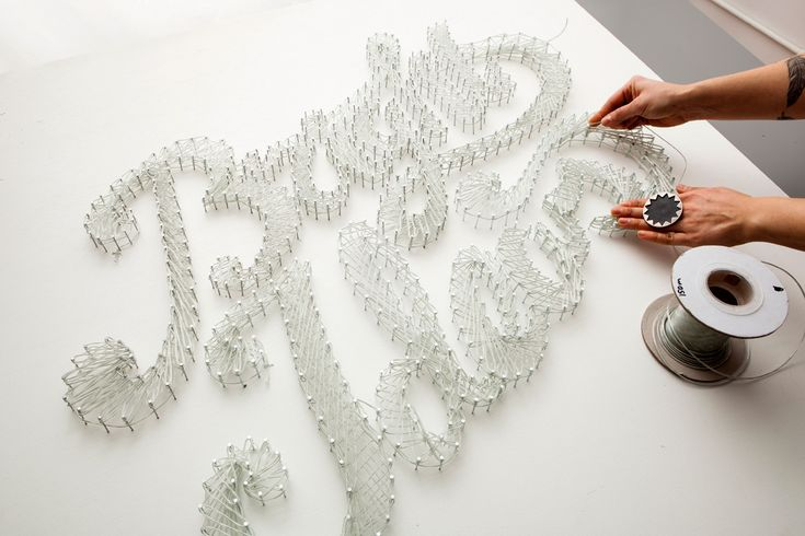 This is what happens when nail string art meets electric wire.