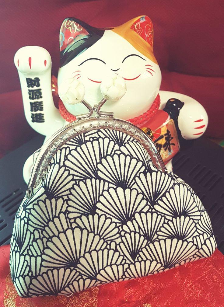 Lovely japanese design fabric purse