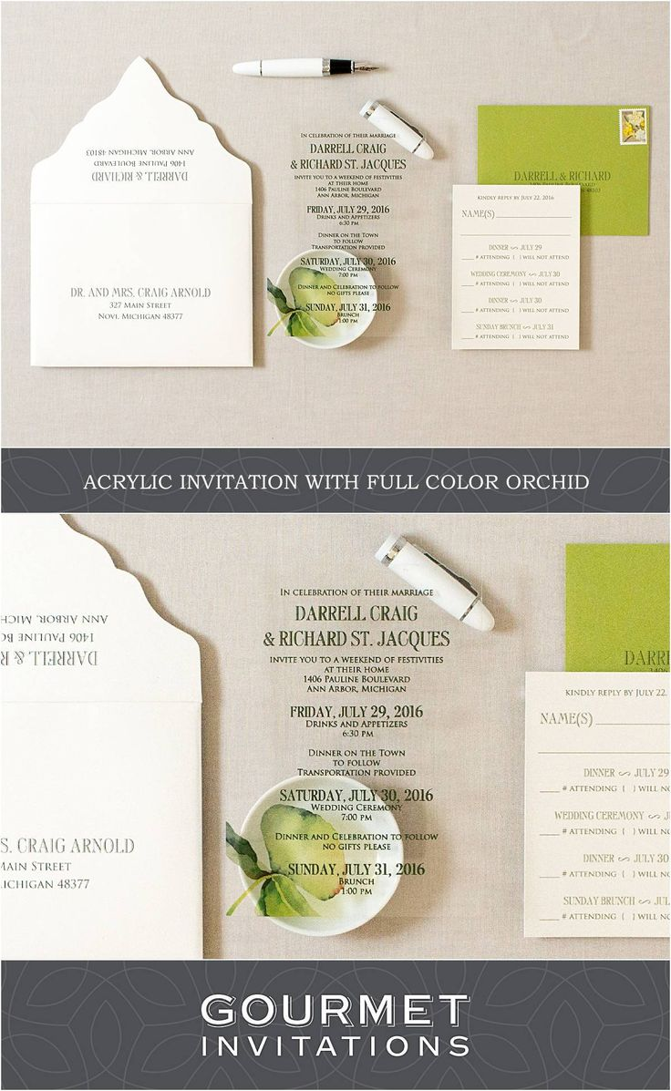 invitation wedding wording gifts%0A Acrylic Wedding Invitations