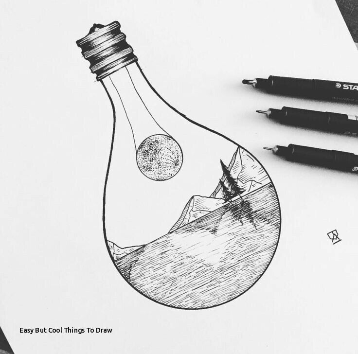 draw cool easy things drawings landscape