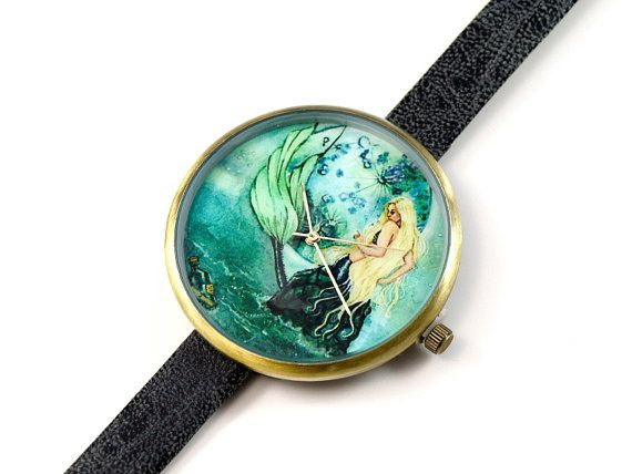 Limited Edition Art Watch  Message Mermaid Art Watch by mainili