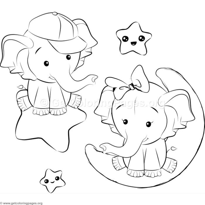 Cute Elephant 9 Coloring Pages Elephant Coloring Page Cute