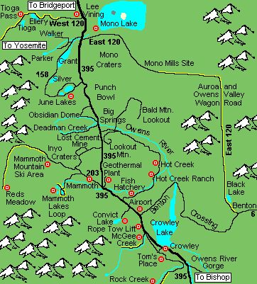 Area Map · Mammoth Lakes CampingArea Map