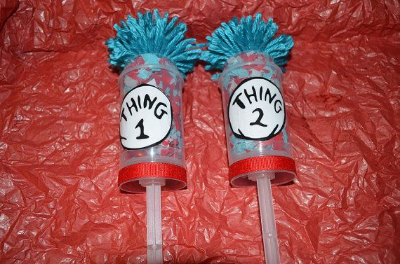 Dr Seuss Thing 1 Thing 2 Confetti Pops Cat in by SwitzersSweets