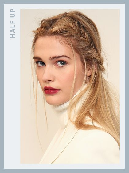 Prom hairstyles: Half-up fishtail braid - Rachel Zoe 2016 | allure.com
