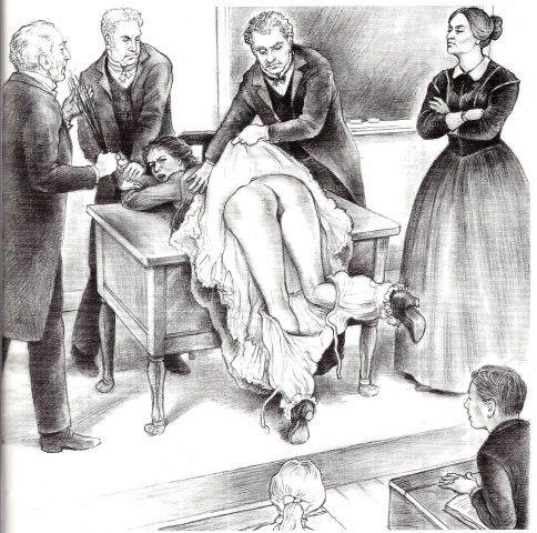 ruler punishment older woman spank