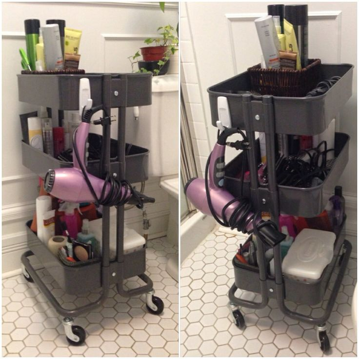 Use Ikea Raskog Kitchen Cart As Bathroom Storage Stick On