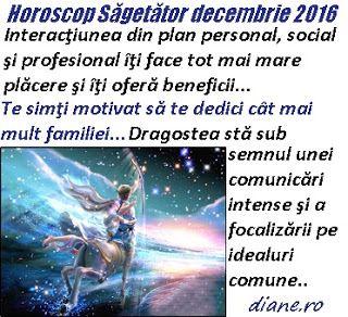 Horoscop decembrie 2016 Sagetator