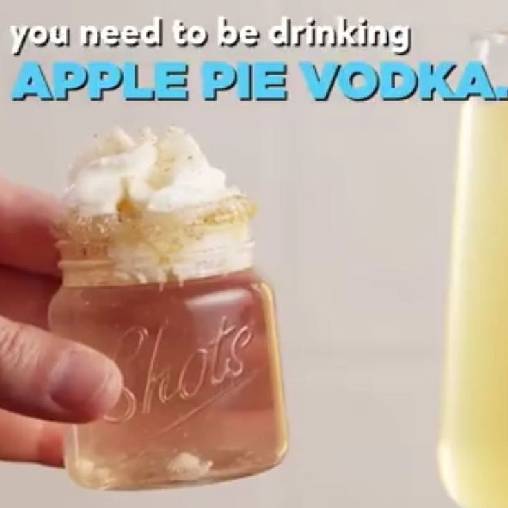 Get Ready To Throw Back Apple Pie Vodka Alllll Fall. Full Recipe: Http: