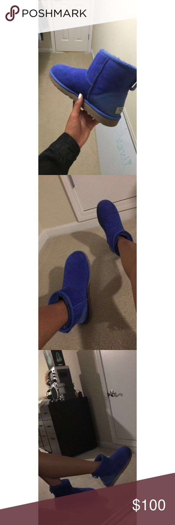 Authentic Blue ugg low tops Only worn 1/2 time... sadly too big for me UGG Shoes Ankle Boots & Booties