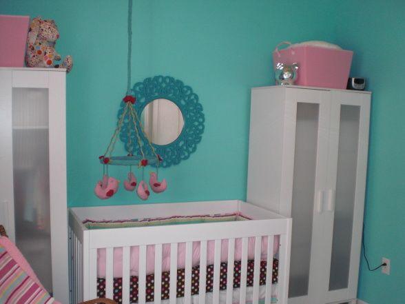 aqua Baby Nursery Girls Idea | Modern Turquoise Nursery - Nursery Designs - Decorating Ideas - HGTV ...