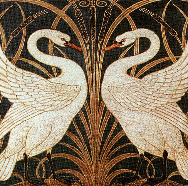 Wallpaper design by Walter Crane, produced in the 1880
