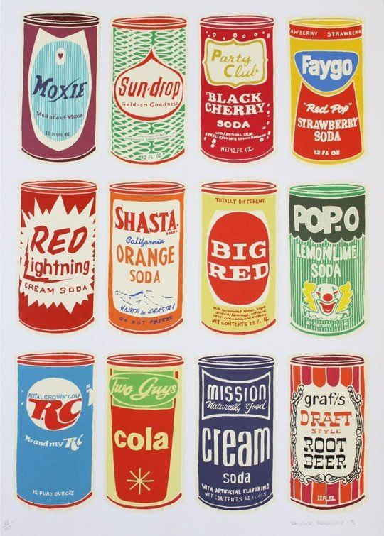 Retro Soda Cans by Patrick Edgeley — On The Wall