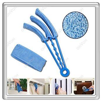 S5V High Quality Microfibre Triple Blinds Venetian Slats Blind Dust Cleaner Brushes Duster Free Shipping