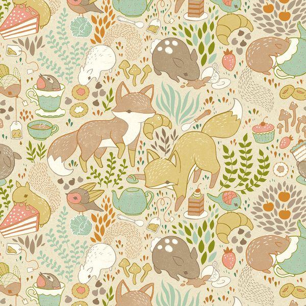 Children's Illustration 1 by teagan white- animal tea party. Great wallpaper…