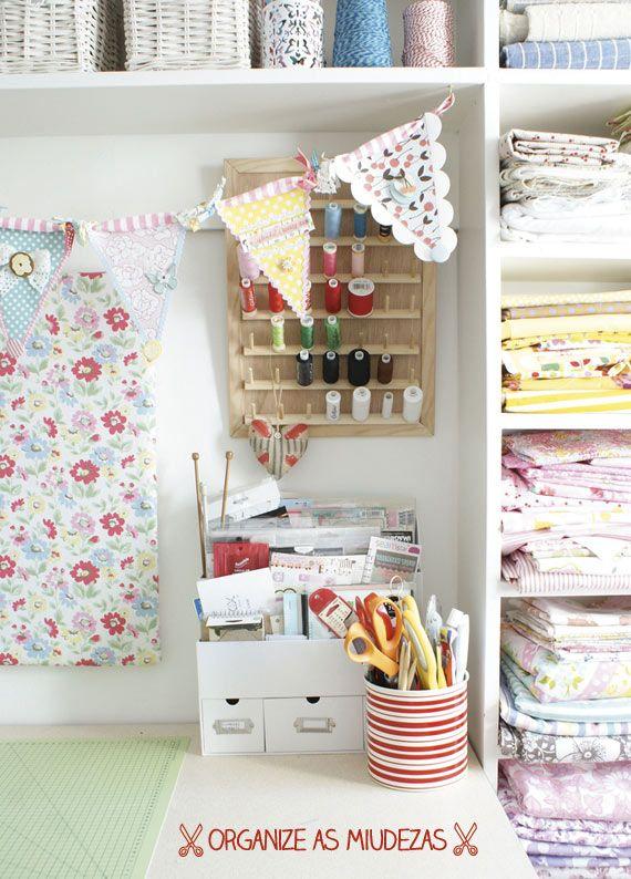 Ideias para quarto, ateliê (ou canto) de costura - dcoracao.com - blog de decoração e tutorial diy