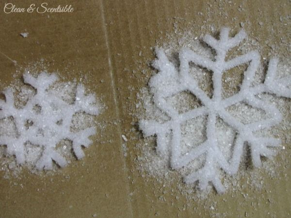 Epsom Salt-Pipe Cleaner Snowflakes