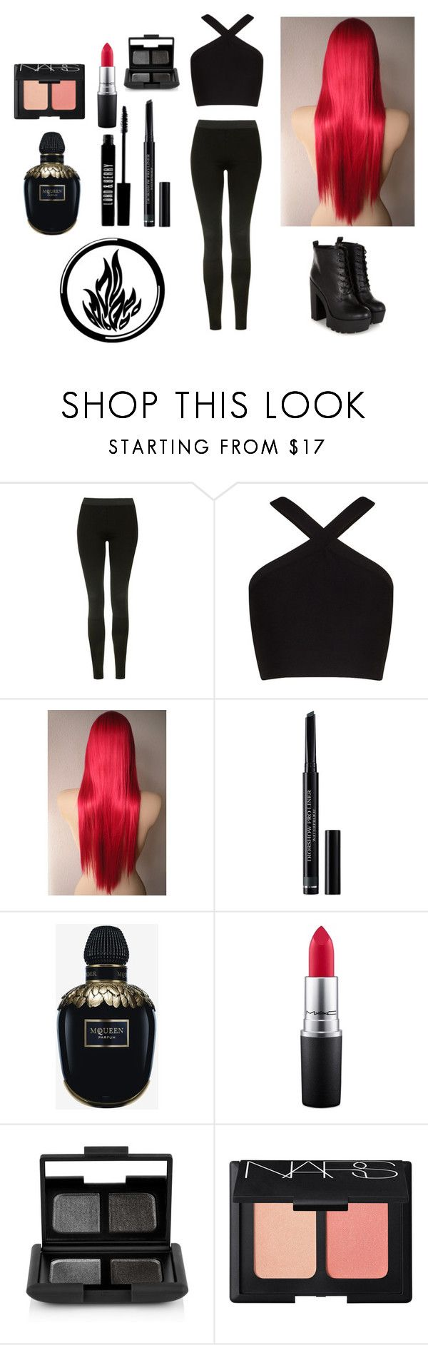 """""""Me in divergent (dauntless)"""" by harrypotter-gurl ❤ liked on Polyvore featuring Topshop, BCBGMAXAZRIA, Christian Dior, Alexander McQueen, Lord & Berry, MAC Cosmetics and NARS Cosmetics"""