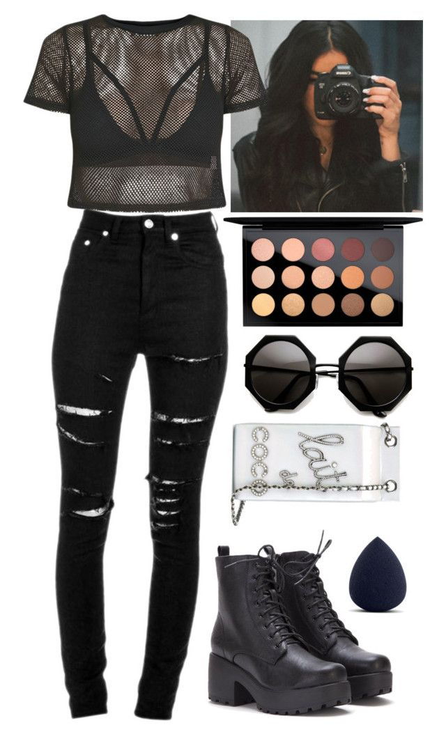 """""""video w/ Madison"""" by baeisme ❤ liked on Polyvore featuring Yves Saint Laurent, My Makeup Brush Set, MAC Cosmetics and Chanel"""