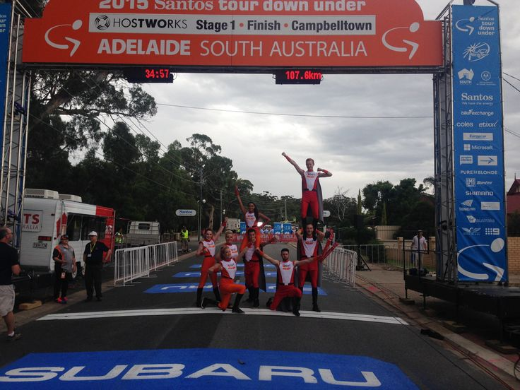 iinet Super Squad at the Stage 1 Campbelltown finish line