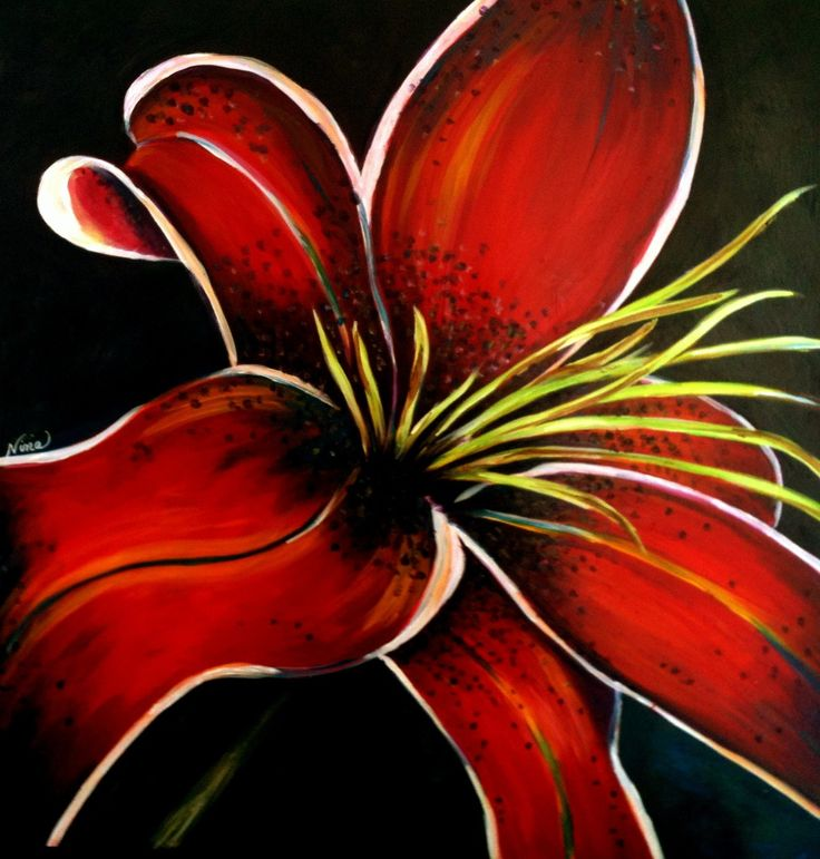 29 best acrylic paintings images on pinterest for Painting large flowers in acrylic