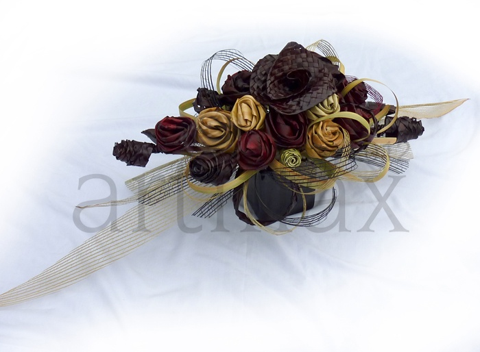 Artiflax - corporate / wedding centrepiece, earthy toned flax flowers