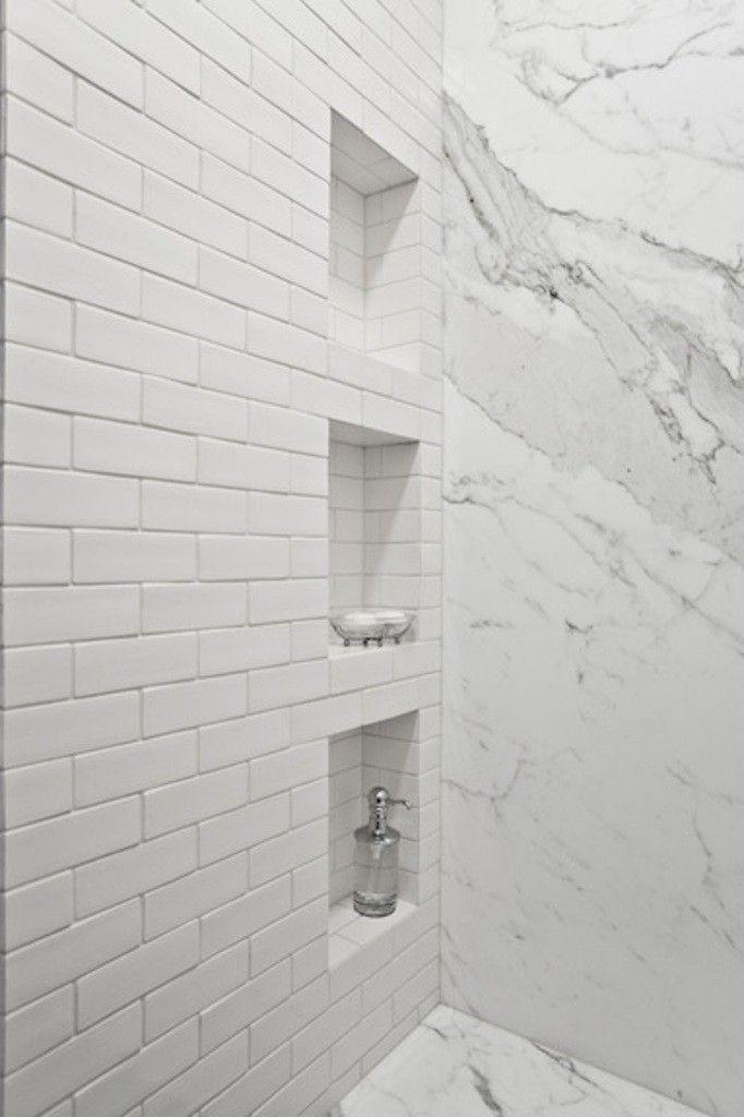 Showers Tiled Showers Shower Tiles Shower Niche Subway Tile Shower