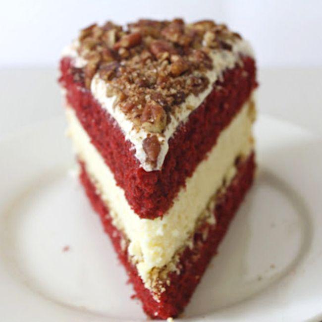 Red Velvet Cake Cheesecake | desserts | Pinterest