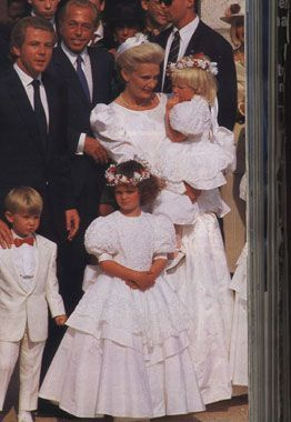 Thierry Roussel marries. His daughter Athina Onassis Roussel is in the middle.