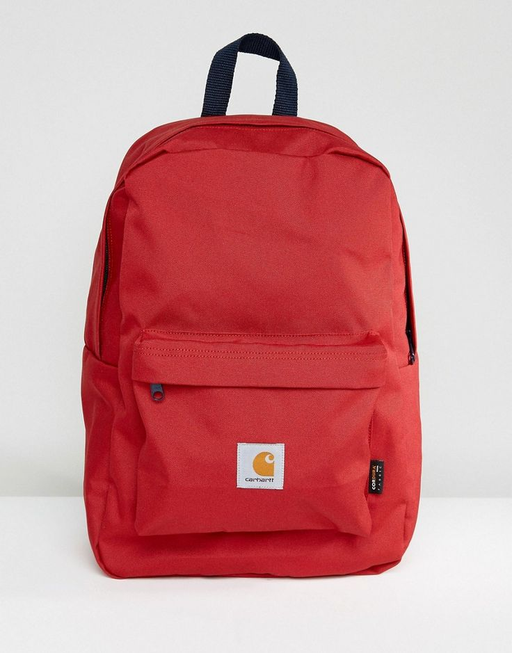 CARHARTT WIP WATCH BACKPACK - RED. #carhartt #bags #canvas #backpacks #polyester #