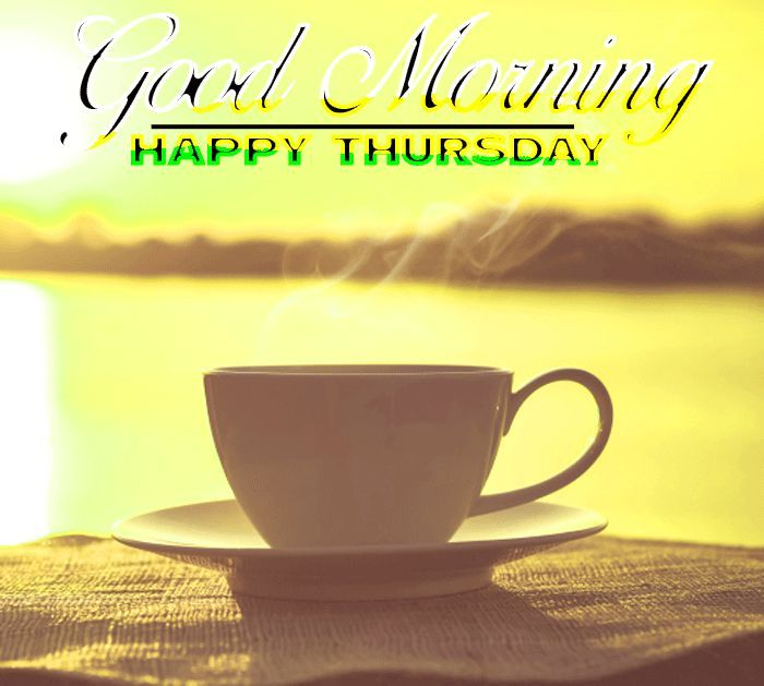 good morning happy thursday images with coffee sunset hd ...