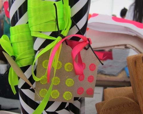 Neon and chevron wrap