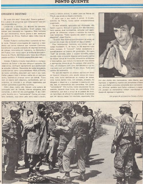 Mercenary Wars. A blogsite article and photos of John Banks and Costas Georgiou (Col Callan) 1976