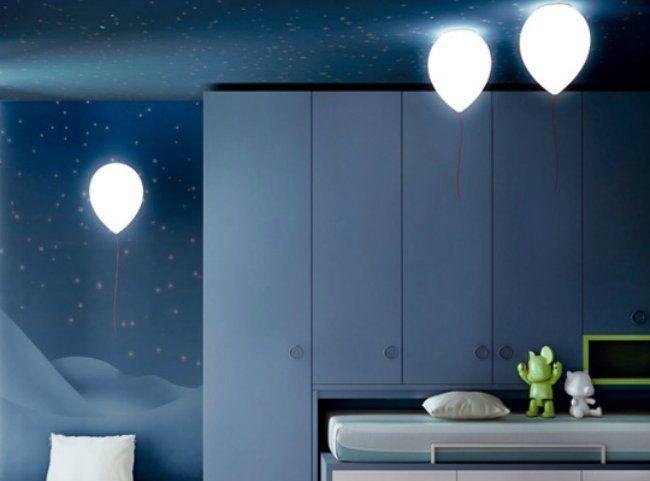 Unas lámparas que parecen globos flotantes