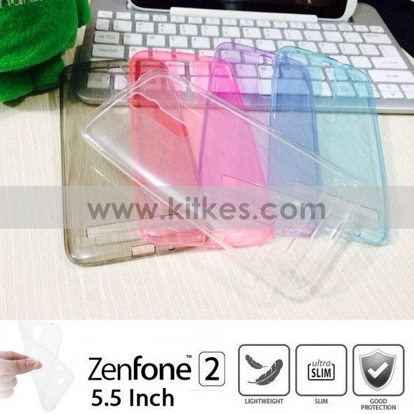 Colour TPU Slim 0.3mm Soft Case ASUS Zenfone 2 (5.5 inch) - Rp 65.000 - kitkes.com