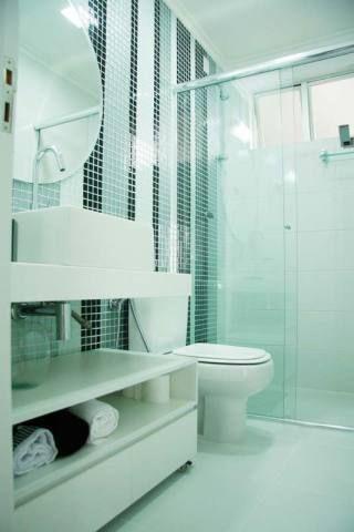 Banheiro projetado por Priscila Matsuda.