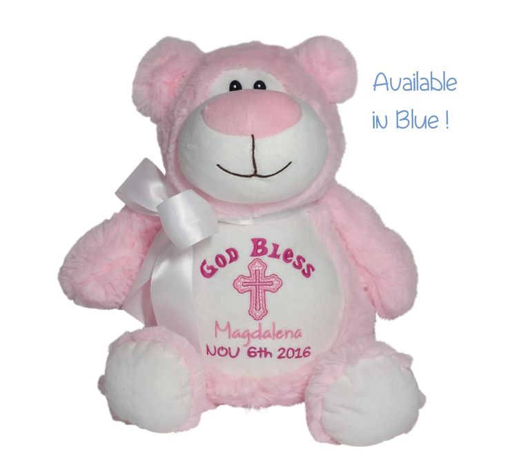235 best baby cubbies images on pinterest cubbies cubicles and personalized baby baptismal gift embroidered soft plush baptism lamb christening baptism dedication bear by reneesembroidery negle Image collections