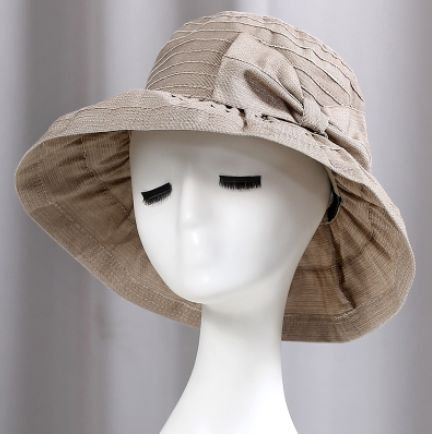 Package bucket hat with bow elegance ladies sun hats UV protection