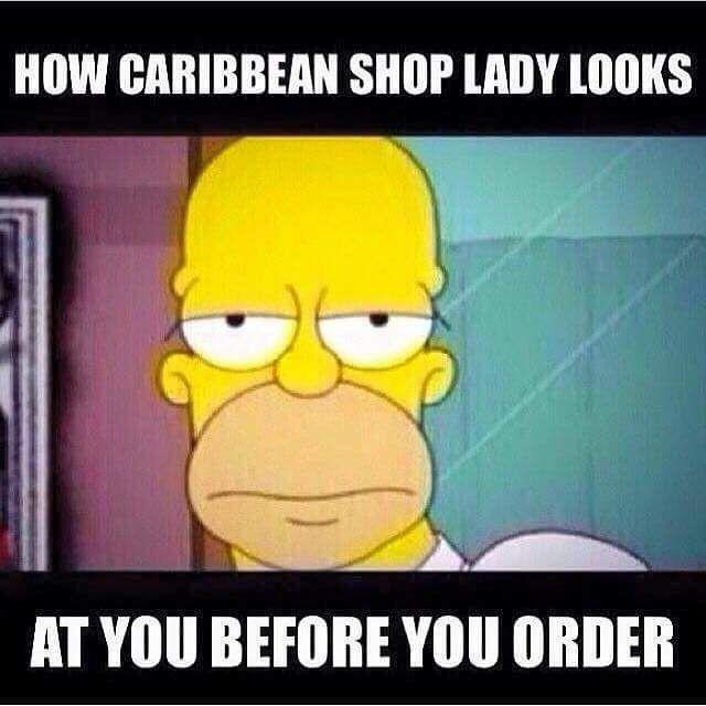 ESPECIALLY Jamaican ones. Next time I get this look I'm showing them this meme. . . #jamaica #jamaican #jamaicans #jamaicanfood #jamaicansbelike #caribbean #trini #trinistyle #trinidad #bajan #bajancanadian #barbados #grenada #puregrenada #stlucia #stlucian #guyana #guyanese #guyanesefood by asantemassawa