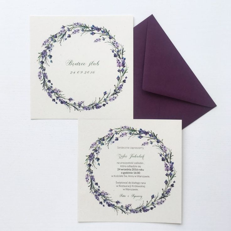 Wedding stationery with lavender