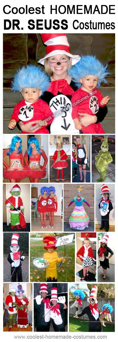 Homemade Dr. Seuss Cat in the Hat Costumes - Coolest Halloween Costume Contest
