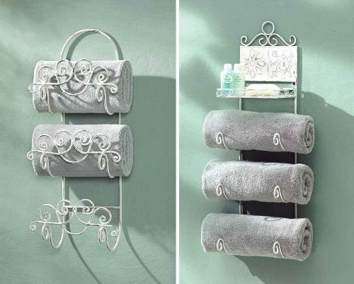 Sew A Wall Hanging Towel Holder   ... Bathroom Storage Ideas   Bathroom  Cabinets