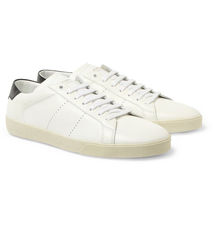 laurent sl06 leather sneakers mr porter clothing
